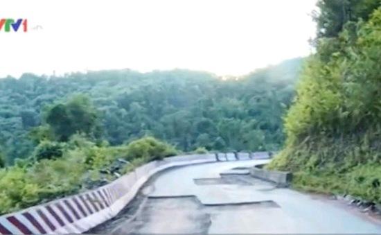 Điện Biên: Quốc lộ vừa nghiệm thu đã vỡ hỏng