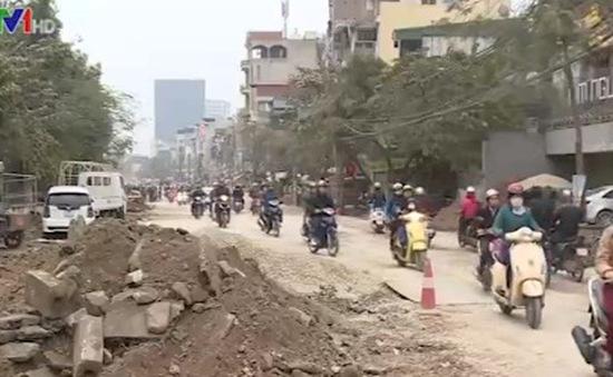 Hà Nội: Thi công đường Thanh Nhàn trì trệ