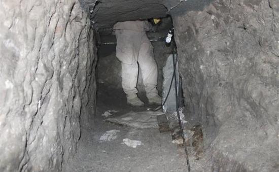 Mỹ phát hiện đường hầmvận chuyển ma túy từ Mexico