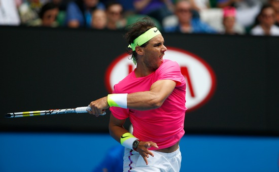 Thắng dễ vòng 4, Nadal có tên tại tứ kết Úc Mở rộng 2015
