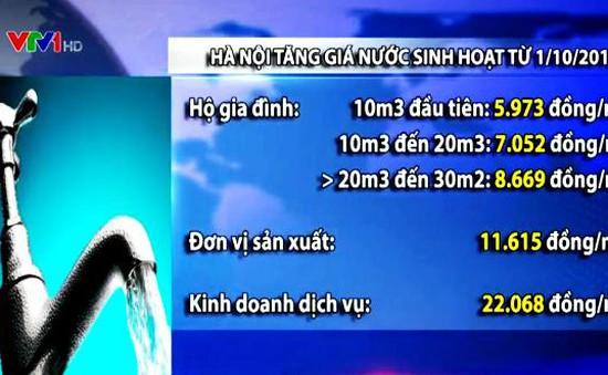 Hà Nội:Tăng giá nước sinh hoạt từ 1/10