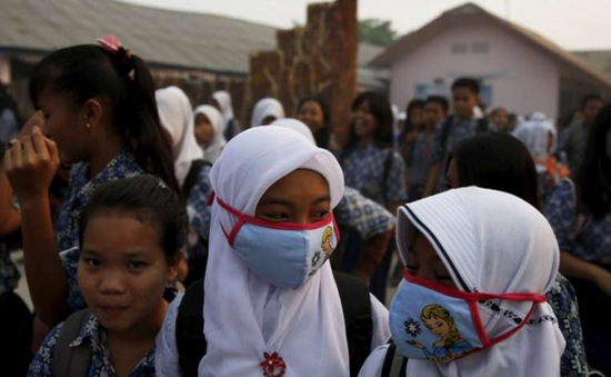 Gần nửa triệu người Indonesia phải điều trị bệnh hô hấp do ô nhiễm khói mù