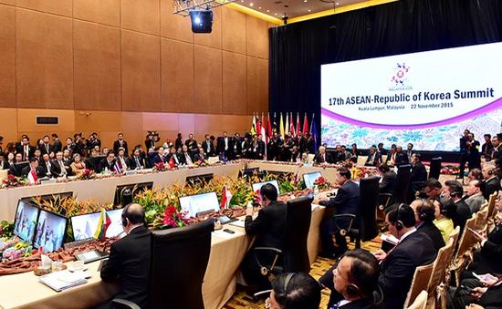 Lãnh đạo các quốc gia ASEAN tham dự hội nghị cấp cao ASEAN - Hàn Quốc