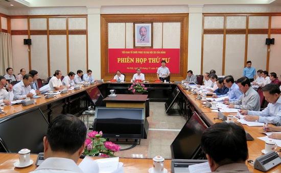 Họp Tiểu ban tổ chức phục vụ Đại hội XII của Đảng