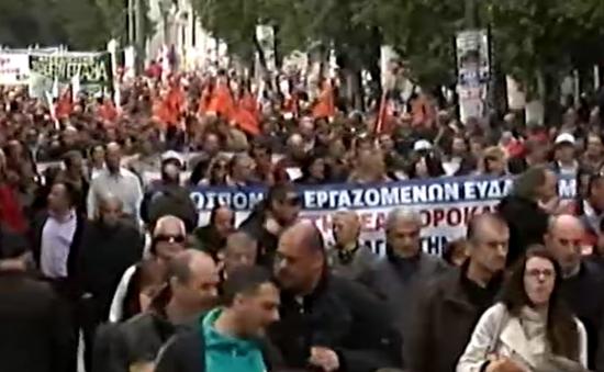 Hy Lạp biểu tình phản đối chính sách thắt lưng buộc bụng