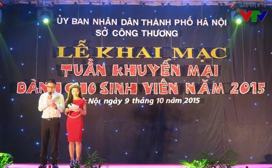 Khởi động tháng khuyến mại hàng Việt cho sinh viên 2015