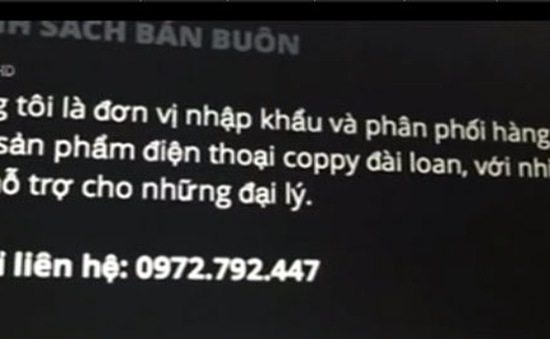 Công khai quảng cáo iPhone giả trên Internet