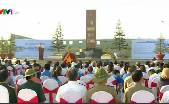 Khánh thành công trình tưởng niệm liệt sĩ bảo vệ cầu Rạch Chiếc