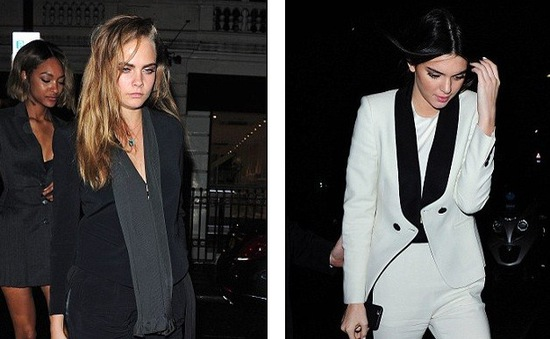 Kendall Jenner và Cara Delevingne diện street style thanh lịch ở London