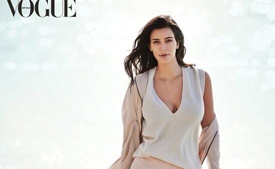 Kim Kardishian thon gọn bất ngờ trên bìa tạp chí Vogue