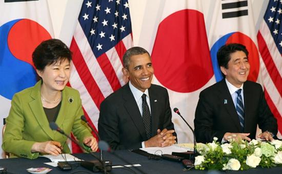 Nhật Bản, Mỹ, Hàn Quốc họp điều phối chính sách về Triều Tiên