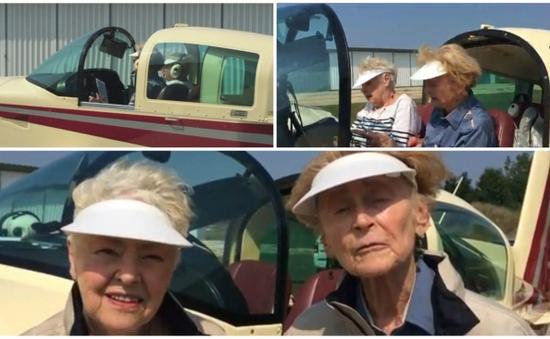 Ngưỡng mộ hai cụ bà ngoài 80 tuổi tự lái máy bay khắp nước Mỹ