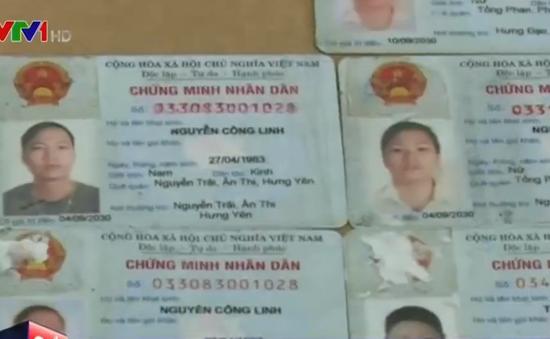 Triệt phá đường dây làm giả chứng minh nhân dân ở Thái Bình