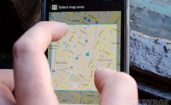 Google Maps cho phép người dùng xem bản đồ offline