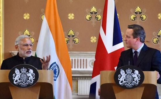 Ấn Độ và Anh ký kết một loạt hợp đồng trị giá 9 tỷ Bảng