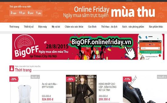 """Cơ hội mua hàng khuyến mại trong """"Ngày hội mua sắm trực tuyến mùa Thu"""""""