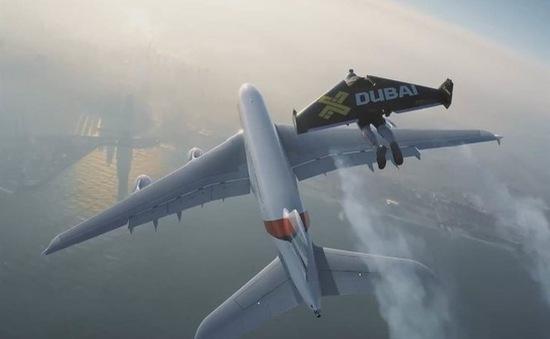 Người bay đua tốc độ cùng máy bay A380