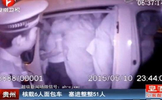 Trung Quốc: Nhồi nhét 49 người trên xe 6 chỗ