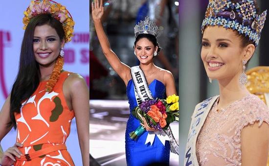 So nhan sắc Pia Wurtzbach với đại diện Philippines qua các mùa Hoa hậu