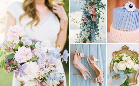 2 gam màu dịu nhẹ cho đám cưới năm 2016