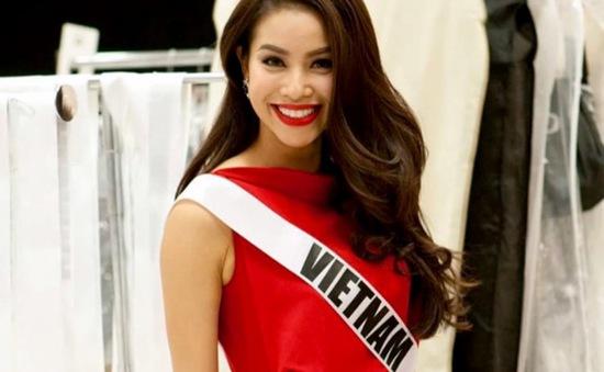 Phạm Hương đứng đầu top 5 nổi bật ở Hoa hậu Hoàn vũ 2015