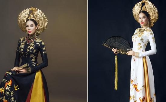 Ngắm 2 bộ áo dài kỳ công của Phạm Hương tại Hoa hậu Hoàn vũ 2015