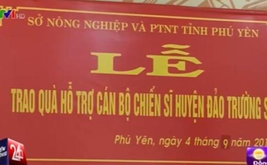 Phú Yên: Trao 10 tấn lúa cho huyện đảo Trường Sa
