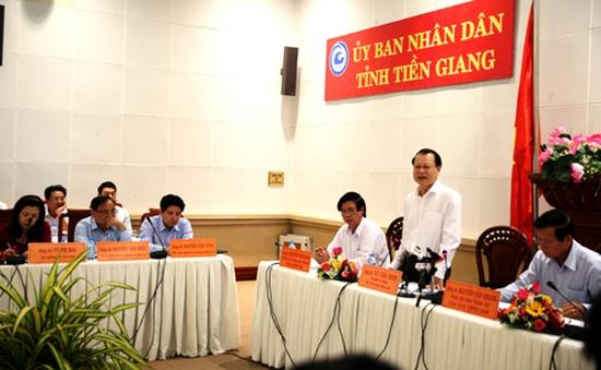Phó Thủ tướng Vũ Văn Ninh làm việc với tỉnh Tiền Giang