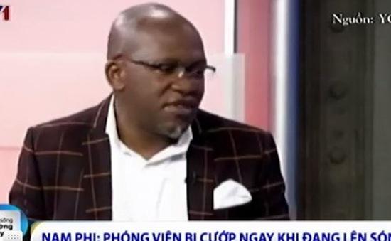 Nam Phi: Phóng viên bị cướp ngay khi đang lên sóng