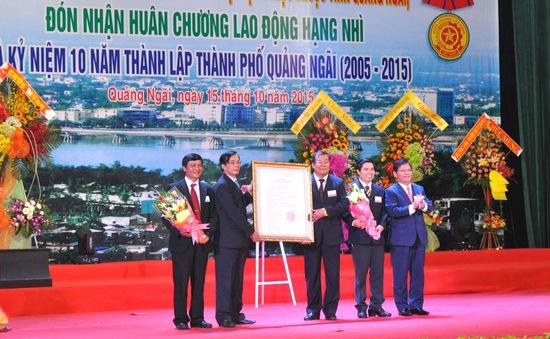 TP Quảng Ngãi được công nhận là đô thị loại II
