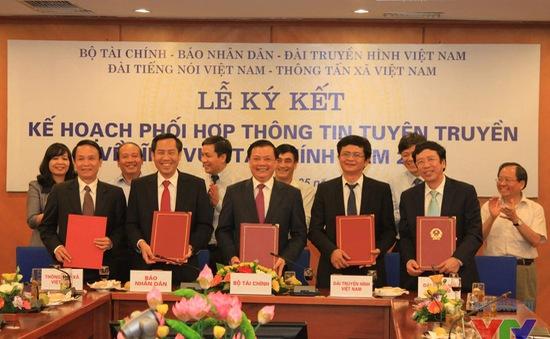 VTV và Bộ Tài chính ký thỏa thuận phối hợp thông tin tuyên truyền