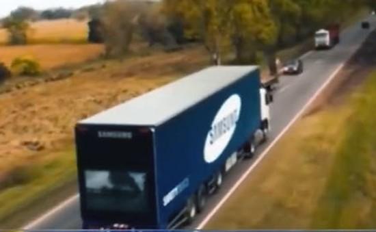 Samsung ra mắt xe tải gắn màn hình