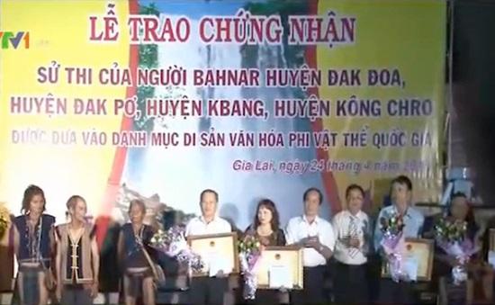 Công nhận Sử thi Ba Nalà Di sản văn hóa phi vật thể quốc gia