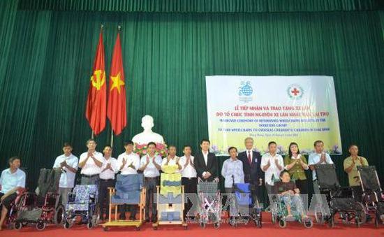 Nhật Bản tặng 30 xe lăn cho người khuyết tật tỉnh Thái Bình