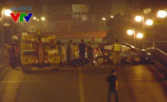 Khởi tố vụ taxi gây tai nạn liên hoàn trên cầu vượt Thái Hà