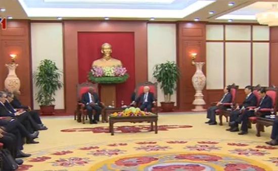 Tổng Bí thư tiếp Đoàn đại biểu cấp cao Đảng Cộng sản Cuba
