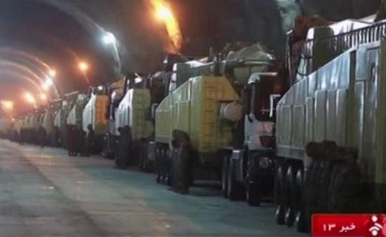 Iran công bố hình ảnh kho tên lửa dưới lòng đất
