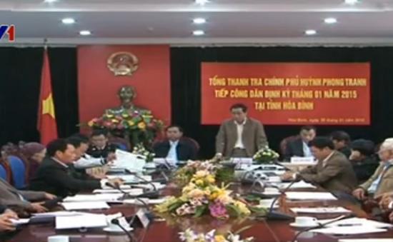 Tổng Thanh tra Chính phủ tiếp công dân tại tỉnh Hòa Bình