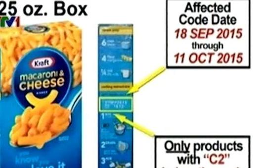 Kraft thu hồi 6,5 triệu hộp Macaroni vị pho mai