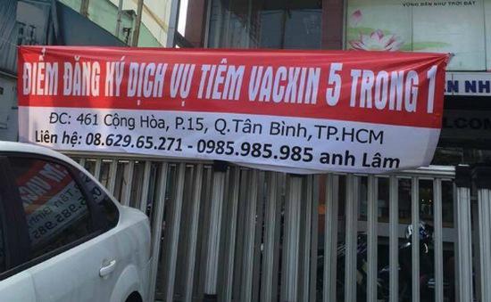 Công ty cổ phần vật tư tiêu hao y tế Sài Gòn sai phạm trong việc tiêm vaccine dịch vụ