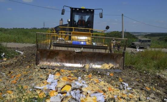 Nga tiếp tục tiêu huỷ thực phẩm nhập khẩu của phương Tây