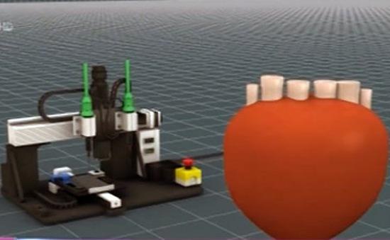 Trái tim nhân tạo 3D làm bằng… bọt xốp