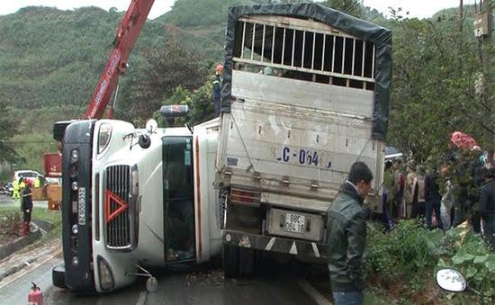 Tai nạn giao thông nghiệm trọng trên QL4D (Lào Cai), 2 người tử vong