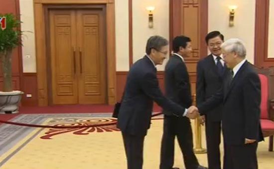 Tổng Bí thư tiếp đoàn đại biểu cấp cao Ban Đối ngoại Trung ương Lào