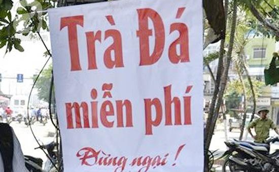 Mát lòng ly trà đá miễn phí ngày nắng nóng ở Hà Nội