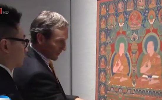 Đấu giá bức tranh cổ 500 tuổicủa Phật giáo Tây Tạng