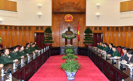 Thủ tướng tiếp Tổng Tham mưu trưởng QĐND Lào