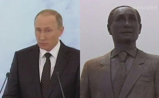 Choáng ngợp với tượng Tổng thống Nga Putin bằng chocolate