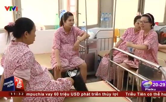 Bệnh viện Phụ sản Hà Nội đã có nước trở lại