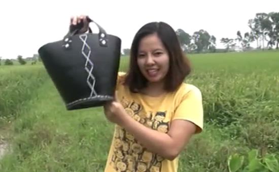 Túi xách tái chế từ lốp xe ở Ý Yên, Nam Định chinh phục thị trường châu Âu